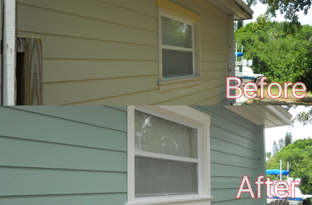 Exterior Paint Before After